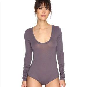 FP Intimates Easy Peasy Gray Bodysuit Top
